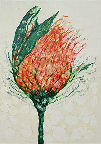 Encaustic-Bild Nr. 2.3 Holzgrund mixed media  (50x70cm)