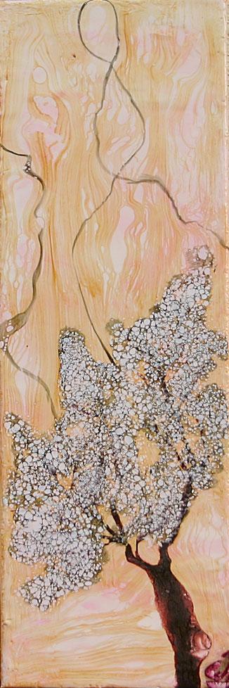 Encaustic-Bild Nr. 2.11 Leinwand mixed media  (20x60cm)