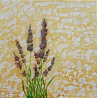 Encaustic-Bild Nr. 2.6 Holzgrund mixed media  (50x50cm)