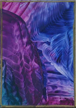 Encaustic-Bild Nr. 3.11 Papier Bienenwachs DIN A 6