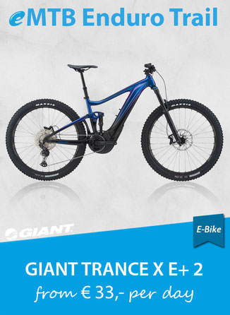 E-Bike Enduro Trail GIANT Trance E+ 2 Pro