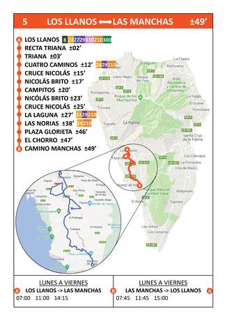 Busfahrplan Los Llanos - Puerto Naos