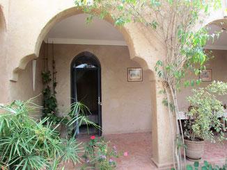entrée chambre d'hotes cannelle Riad maison d'hotes le Jardin des Epices Taroudant Maroc