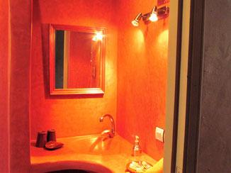 salle de bains chambre d'hotes safran au riad, maison d'hotes le jardin des épices à Taroudant, Maroc