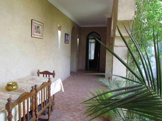 arcades de la chambre d'hotes paprika au Riad, maison d'hotes le Jardin des Epices à Taroudant maroc