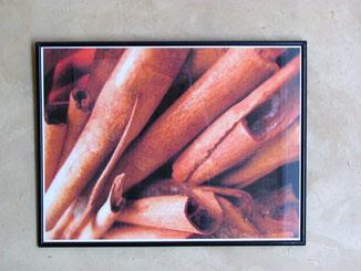 tableau danssalle de bains de la chambre d'hotes coriandre, riad maison d'hôtes hôtel le jardin des épices à Taroudant, maroc