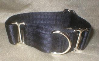 Martingale, Halsband, 2,5cm, Gurtband schwarz