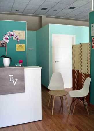 Sala de espera en Fisioterapia Valenzuela