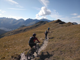 Trail auf der Varneralp (Wallis-Tour)