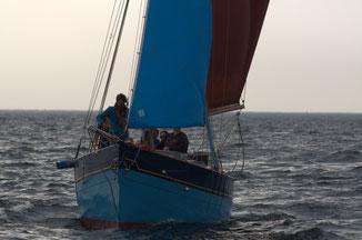 le grand bleu en mer vue face