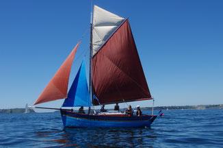 le grand bleu au soleil en rade de Brest