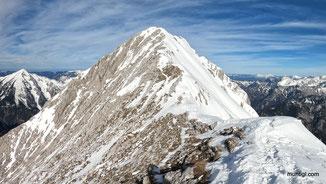 den Grat zum Gipfel machten dann nur Dexi und ich
