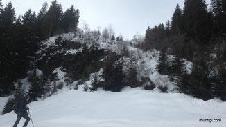 Ruzicka`s Leidensweg *g die Steilstufe unweit der Hütte