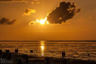 Sonnenuntergang Nordsee (Klicken zum vergrößern)