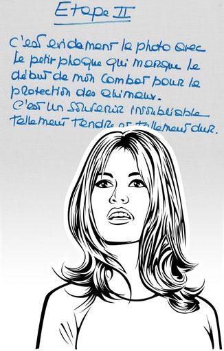 Handtasche mit Schriftstück von Brigitte Bardot
