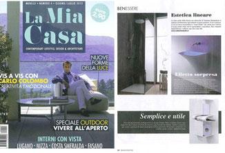 Presseveröffentlichung von dem Toilettenpapierhalter inTeam in dem Magazin La Mia Casa