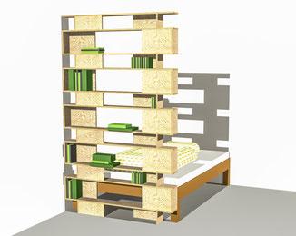 DIYmodularer, platzsparender Raumteiler
