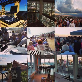 Chris Bernard - DJing on Rooftop Event