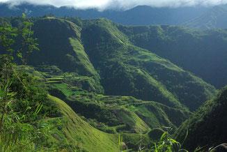 Wir genossen das tolle Panorama am frühen Morgen bei einer Tasse Native Coffee !