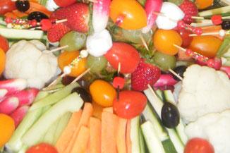 Traiteur le Cochon sans Rancune - Montrieux-en-Sologne - Crudités et salades composées pour vos buffets et rencontres professionnelles