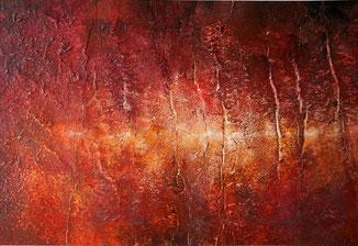 lavalandschaft ausgelöst durch ein inferno