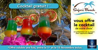 Privilège iNeed : Un cocktail offert entre le 1er et le 15 novembre.