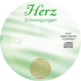 Herzschwingungen Om CD-Label mit der Blume des Lebens