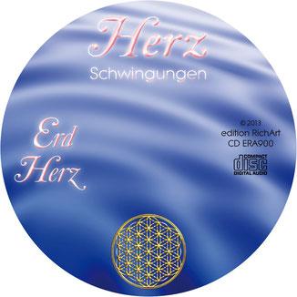 Herzschwingungen Erd Herz CD-Label mit der Blume des Lebens