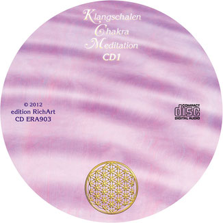 Klangschalen Chakra Meditation ~ CD-Label