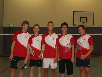 1.Jugendmannschaft v.l.: Jannik Hensel, Christopher Kiwus, Tom Leinweber, Ruiyan Li und Pierre Pahlke