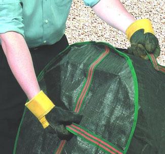 Bosemere Gartensack - extrem stabil und mit Griffbändern zur besseren Handhabung bei www.the-golden-rabbit.de
