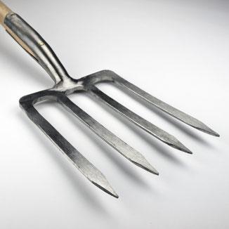 Sneeboer Halbmondhacke mit gerundetem 16 cm breitem Blatt, handgeschmiedet, Eschengriff