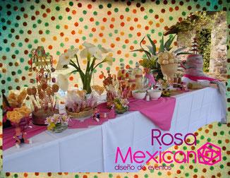 Fuente de chamoy boda mexicana