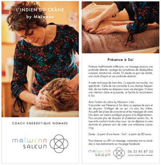 le massage indien du crâne avec maiwenn - Tours