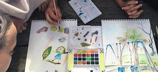 atelier arts plastiques pour les enfants avec christine lenoir - via energetica annuaire de therapeutes