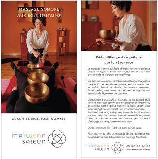 le massage sonore aux bols tibétains avec maiwenn - tours