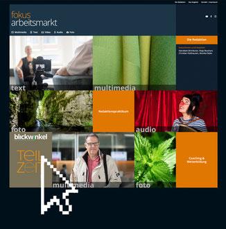 Auszug Startseite www.derarbeitsmarkt.ch