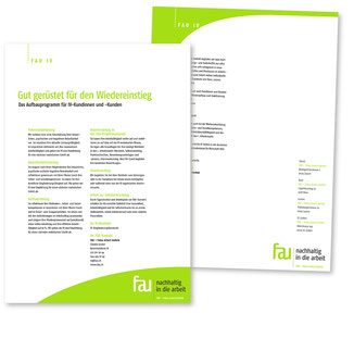Flyer IV Publikation FAU – Fokus Arbeit Umfeld