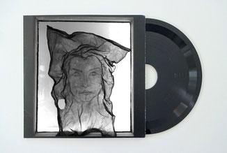 Self portrait Scopby on window, vinyl record, Moya Hoke, 2020