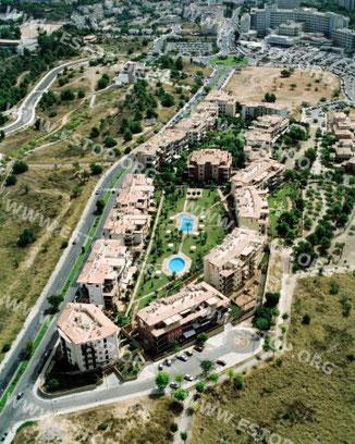 """Complejos residenciales """"Parque Bellver"""" y """"Parc Robines"""". Palma de Mallorca."""