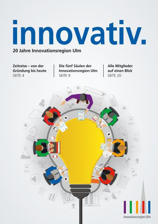 Titelseite innovativ. Magazin Innovationsregion Ulm
