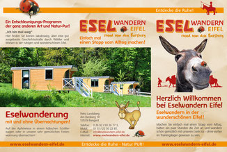Eselwandern-Eifel-Petra-Landsberg-Bongard-NaturPur-Entschleuniger-Entschleunigung-Auszeit-Eseln-Geschichtsstraße-Gutschein-Geschenkidee-Waldübernachtung-Schäferwagen-Naturerlebnis-Abenteuer-Eselführerschein-Barsberg-Vulkaneifel-Altes-Forsthaus-Wanderroute