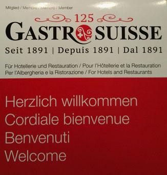 Wir sind Mitglied bei Gastrosuisse