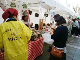 「まごころ製品」美味しいものグランプリ(JR博多駅前大屋根広場)