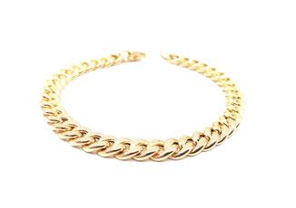 Bracciale catena groumette in oro 18 kt