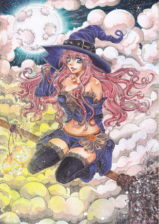 Witch Postkarte 1,50€