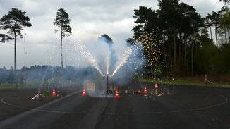 Lautstärke Vulkan Feuerwerk