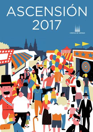 Fiestas de la Ascensión en Santiago de Compostela Programa y cartel