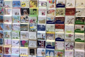 Glückwunschkarten , Gebutstagskarten, Trauerkarten