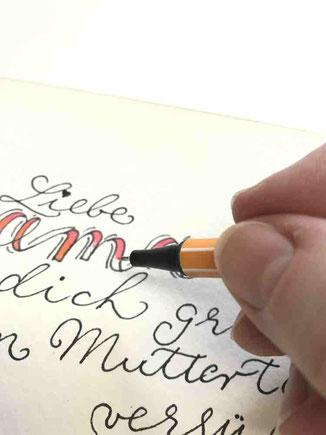 Blending im Handlettering - macht dein Lettering noch schöner
